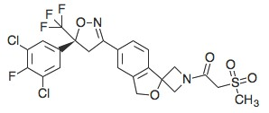 Chemical structure of SAROLANER. Picture taken from www.kegg.jp