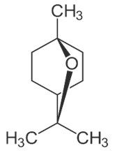 Chemical structure of EUCALYPTOL. Picture taken from Wikipedia Commons