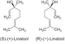 Chemical structure of LINALOOL. Picture taken from www3.hhu.de