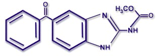 Molecular structure of MEBENDAZOLE